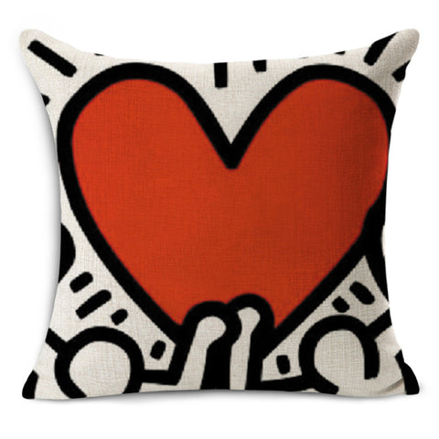Keith Haring Throw Pillow Cases Cushion Covers