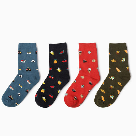 casual cotton breathable cartoon Socks.
