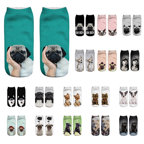 unisex animal print casual socks.