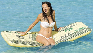 Giant $100 Bill Inflatable Lie-On Pool Float