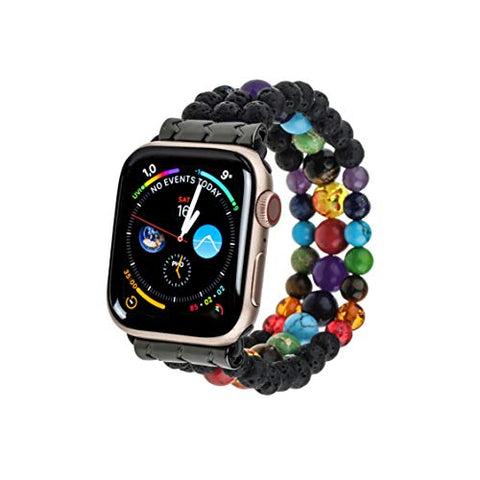 Apple Watch Band Beads Bracelet 38mm/40mm - Handmade 7 Chakras Healing Elastic Wristband Beads Watch Strap - Apple iWatch Series 6/5/4/3/2/1/SE