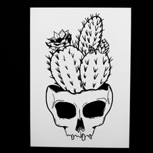 "Load image into Gallery viewer, Cactus Skull Of Your Enemies 5"" x7"" Print"