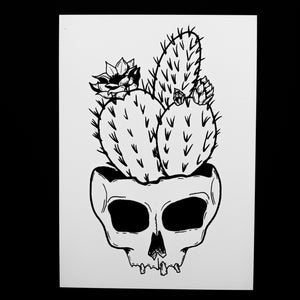 "Cactus Skull Of Your Enemies 5"" x7"" Print"