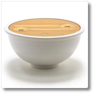 Jumbo Lidded Salad Bowl with Servers
