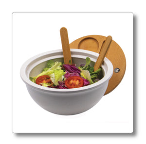 Large Lidded Salad Bowl with Servers