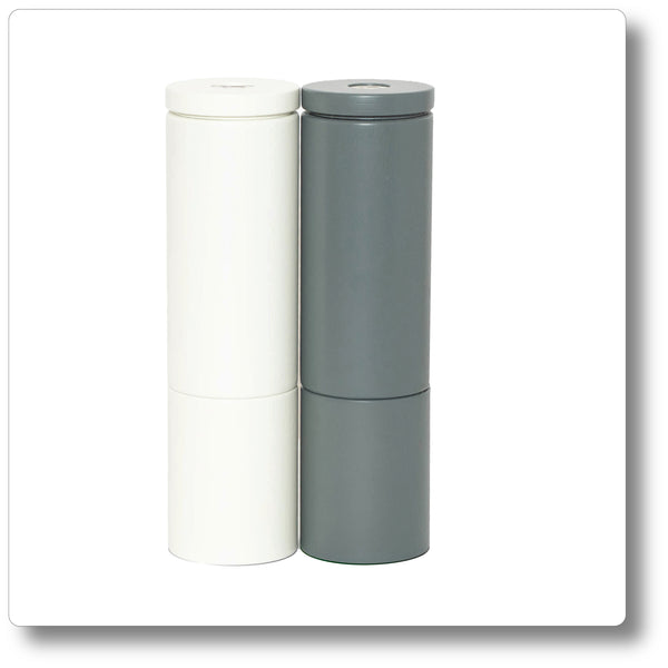 Salt and Pepper Grinder Set Grey/White