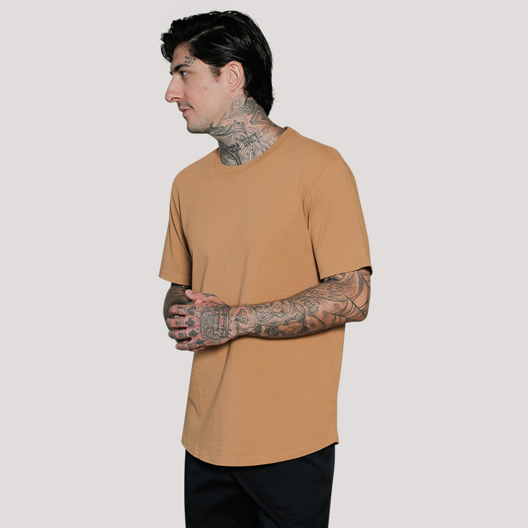 EVERYDAY RECYCLED COTTON TEE CURVED HEM (LIMITED SUPPLY)