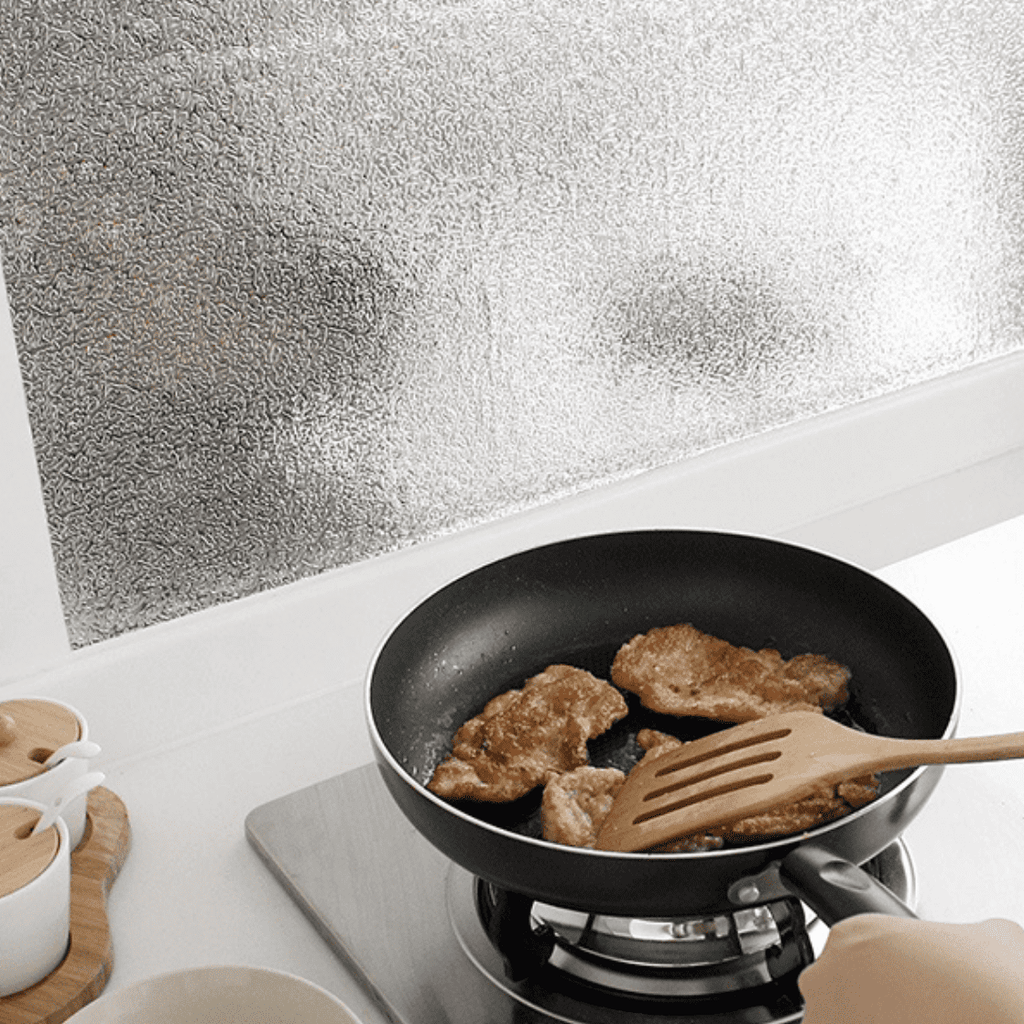 Smart Oil-proof Aluminum Foil Kitchen Sticker