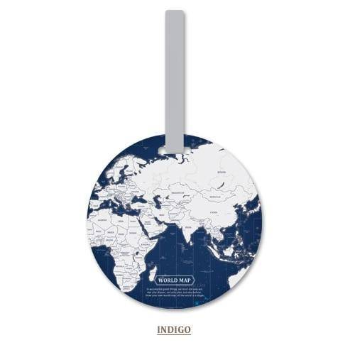 WorldMap Luggage Tag