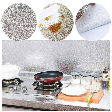 Image of Smart Oil-proof Aluminum Foil Kitchen Sticker