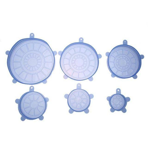 Image of 6pcs/set Silicone Food Lids