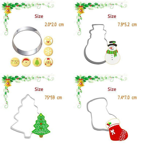 Image of Christmas Cookie Cutter (7 Random Pieces)