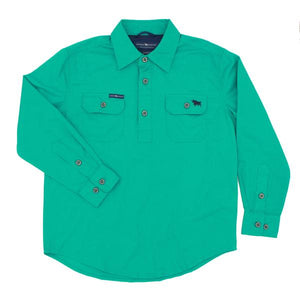 Ringers Western Ord River Kids Work Shirt Green