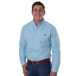 Ringers Western Cambridge Mens Slim Fit Shirt Sky Blue