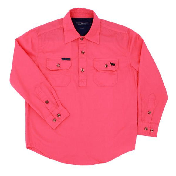 Ringers Western Ord River Kids Work Shirt Melon