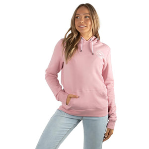 Ringers Western Signature Bull Wmns Hoodie Rosey Pink w White Print