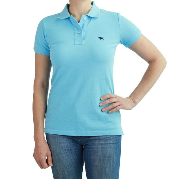 Ringers Western Wmns Classic Polo Pastel Blue