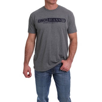 Cinch Mens Tee Heather Grey