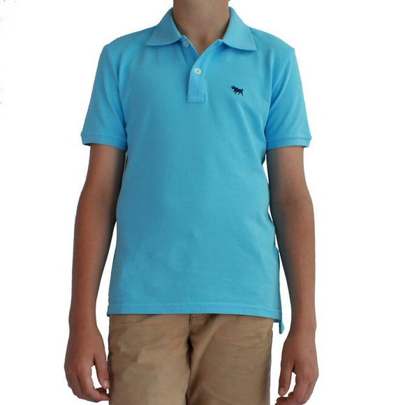 Ringers Western Kids Kimberley Polo Pastel Blue