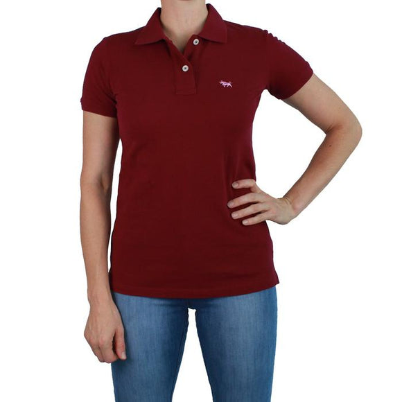 Ringers Western Wmns Classic Polo Burgundy