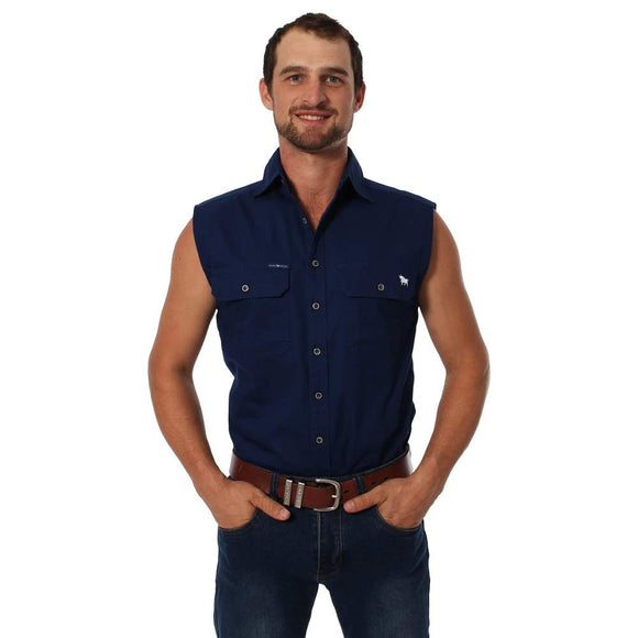 Ringers Western Rob Roy Mens S/Less Shirt Navy