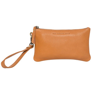 The Design Edge Toronto Grain Leather Small Cowhide Clutch