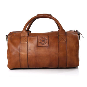 Ringers Western Willare Medium Leather Duffle Bag Chocolate
