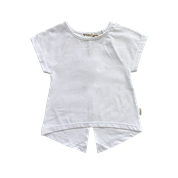 Love Henry Kids Split Back Tee Crisp White