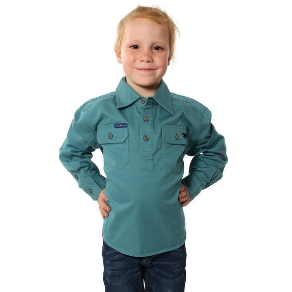 Ringers Western Ord River Kids Work Shirt Dusty Jade