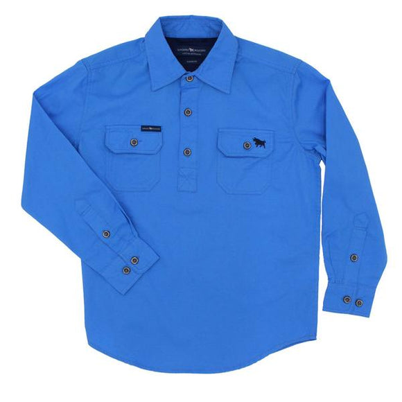 Ringers Western Ord River Kids Work Shirt Blue