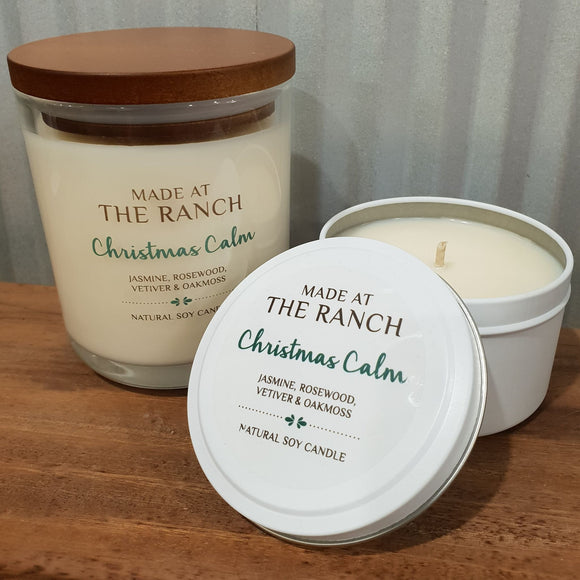 Made At The Ranch Candle Christmas Calm Travel Tin