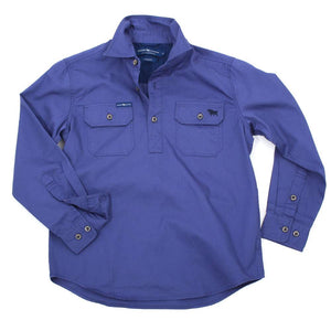 Ringers Western Ord River Kids Shirt Steele Blue