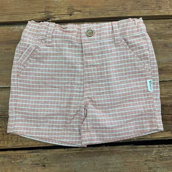 Love Henry Baby Boys Dress Shorts Rustic Salmon Stripe