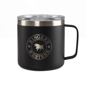 Ringers Western Brew Mug Powder Coated Insulated Black