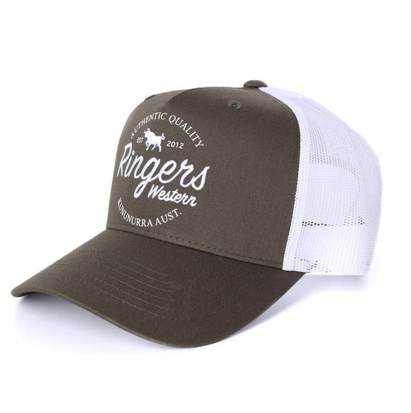 Ringers Western Boundary Trucker Cap Army
