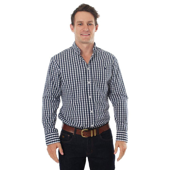 Ringers Western Flinders Mens Dress Shirt Navy