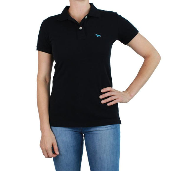 Ringers Western Wmns Classic Polo Black
