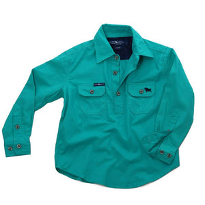 Ringers Western Ord River Kids Work Shirt Deep Mint