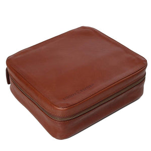 Ringers Western Leonara Leather Toiletry Bag Chocolate
