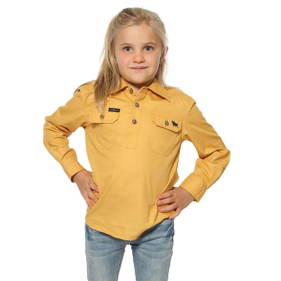 Ringers Western Ord River Kids Work Shirt Amber Gold