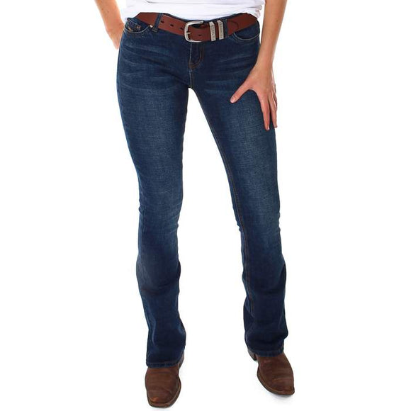 Ringers Western Megan Low Rise Wmns Bootleg Jean Classic Blue