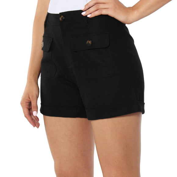 Ringers Western Marla Wmns High Rise Shorts Black
