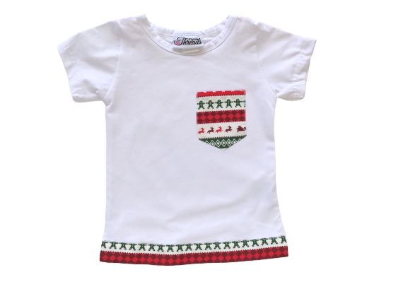 My Little Threads Kids Christmas Candy Tee