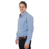Ringers Western Davidson Mens Dress Shirt Blue