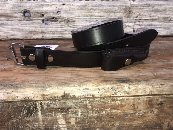 Stockman Belt 38mm w Pouch Brown