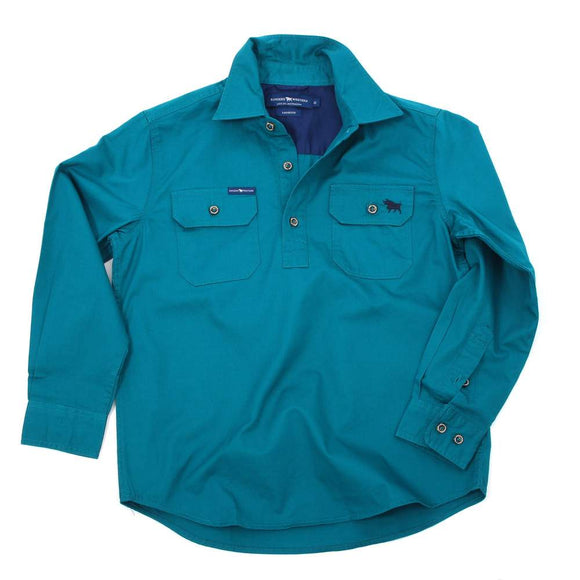 Ringers Western Ord River Kids Shirt Teal