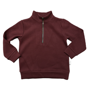 Love Henry Kids Zip Front Jumper Maroon
