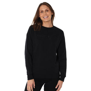 Ringers Western Kooyong Wmns Crew Neck Pullover Black
