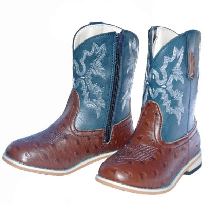 Baxter Junior Western Boot Lake Blue