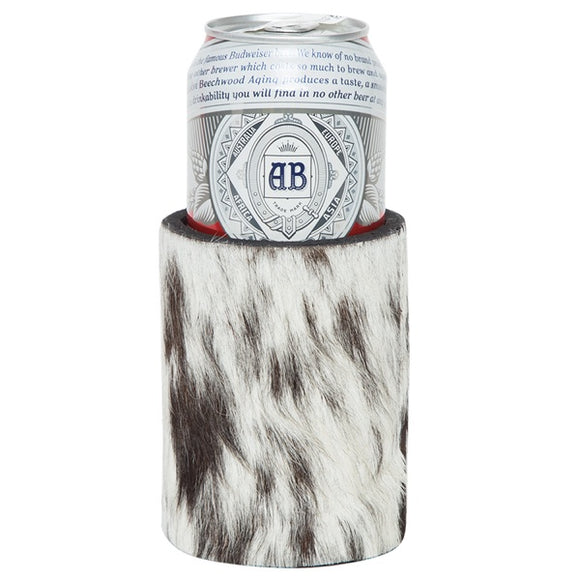 The Design Edge Cowhide Stubbie Holder Hairon (can size)